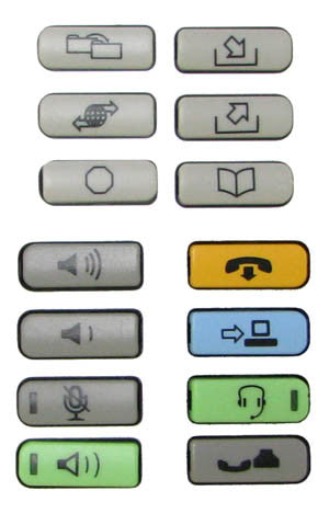 BUTTONSET 36110: Nortel, IP, 1120E, 1140E, (14 Buttons), Icons