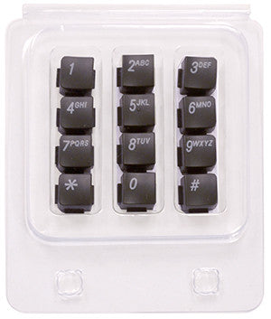 BUTTONSET 36130: Nortel, 1120E, 1140E, Dial Pad Numbers, Charcoal
