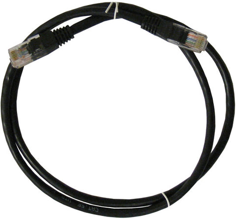 CABLE 99013: Cat5e, Non Booted, RJ45, 1 ft, Black, Bagged