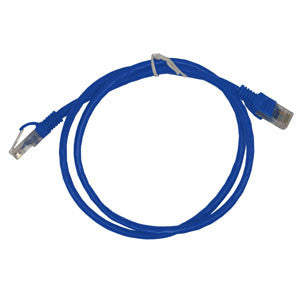 CABLE 99020: Cat5e, Slim Booted, RJ45, 3 ft, Blue, Bagged