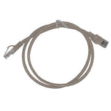 CABLE 99022: Cat5e, Slim Booted, RJ45, 3 ft, Gray, Bagged