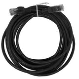 CABLE 99041: Cat5e, Slim Booted, RJ45, 15 ft, Black, Bagged