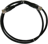 CABLE 99046: Cat5e, Non Booted, RJ45, 25 ft, Black, Bagged