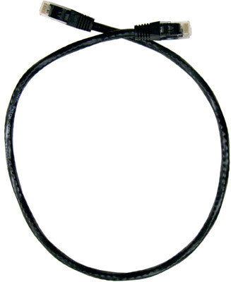 CABLE 99611: Cat6, Non Booted, RJ45, 1', Black, Bagged