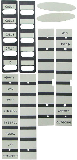 replacement paper name labels for Inter-Tel 8520, 8560, 8620, 8660