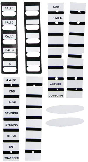 Inter-Tel, 8520, 8560, 8620, 8660, replacement designation paper set.
