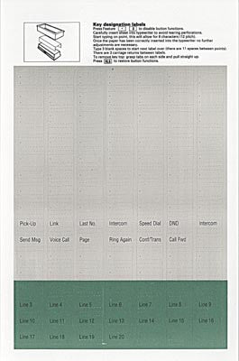 DESI PAPER 36500: Nortel, M2250, Gray/Green, SemiPrinted, (10 PK)