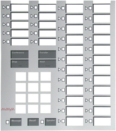 DESI PLASTIC 30259: Avaya, AT&T, Merlin 34 Button (7305), Silver Graphic