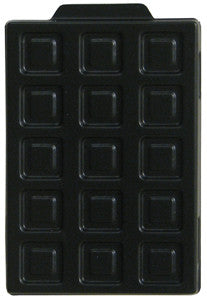 ESD TRAY 90000: ESD Component Storage Tray W/ Lid, 44pin, QFP (Box of 100)