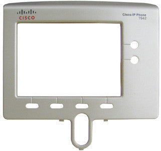 FACEPLATE 16025: Cisco, 7942, 7942G, Bezel, Silver