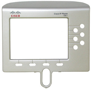 Replacement silver face plate bezel for Cisco 7961 or 7961G IP phones