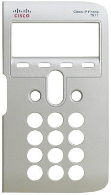 Replacement silver face plate bezel for Cisco 7911