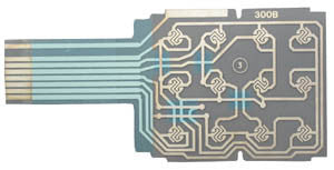 FLEX CIRCUIT 30210: Avaya, AT&T Merlin, 5 Button Dial Pad Flexible Circuit Board