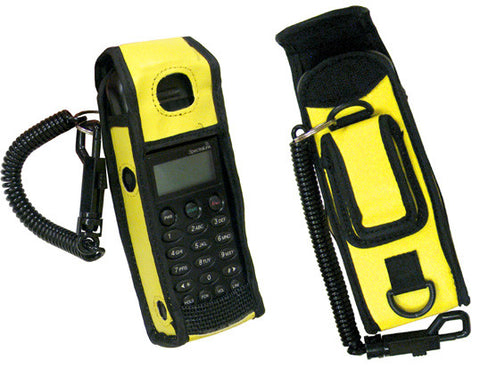 HOLSTER 54005: Spectralink, PTB 400, 410 Series, Yellow Vinyl with a Lanyard