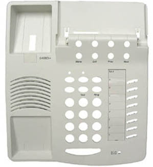 TOP HOUSING 30520: Avaya, 6408D+, White, with Desis, (This style top has the Microphone  Holder)