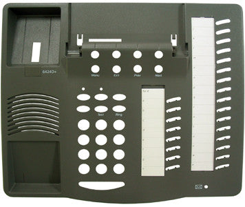 TOP HOUSING 30650: Avaya, 6424D+, Gray, w/Desi Paper and Plastic