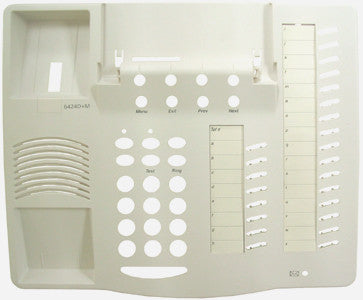 TOP HOUSING 30710: Avaya, 6424D+M, White, W/Desi Paper & Plastic