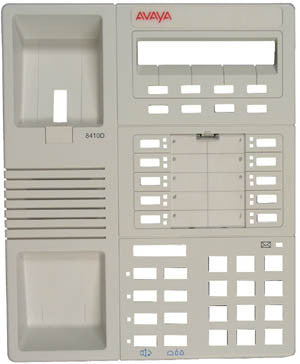 TOP HOUSING 31280: Avaya, 8410D, Old Style, White, W/Desis