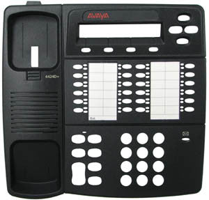 TOP HOUSING 31810: Avaya, 4424D+, Black, With Desi Plastic, Paper