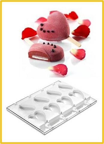 Heart Popsicle Mould Kit