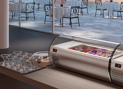 NEW Counter Top Gelato Display Freezer