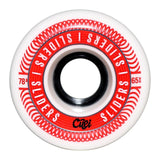 Cuei Sliders 65mm 78A White & Red Wheels - The Boardroom