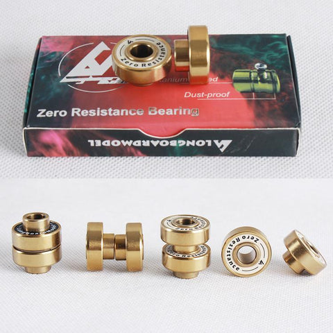 Longboardmodel Gold Bearings Set (8 bearings) - The Boardroom
