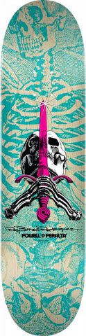 Powell Peralta Powell Peralta - Skull & Sword Turquoise Skateboard Deck - The Boardroom