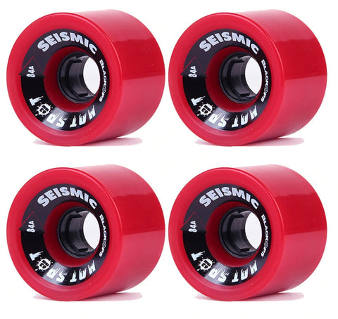 Seismic Hot Spot 63mm Wheels Red 84A - The Boardroom