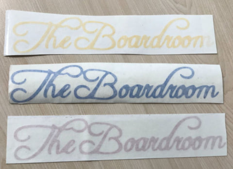 The Boardroom Vinyl Sticker/Decal - The Boardroom