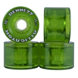 Alligator Wheels 71mm 78a Clear Green - Bennett - The Boardroom NZ