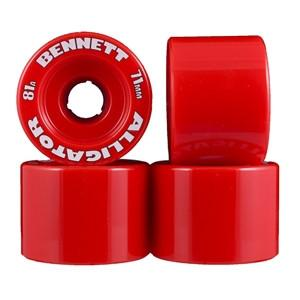 Alligator Wheels 71mm 81a Red - Bennett - The Boardroom NZ