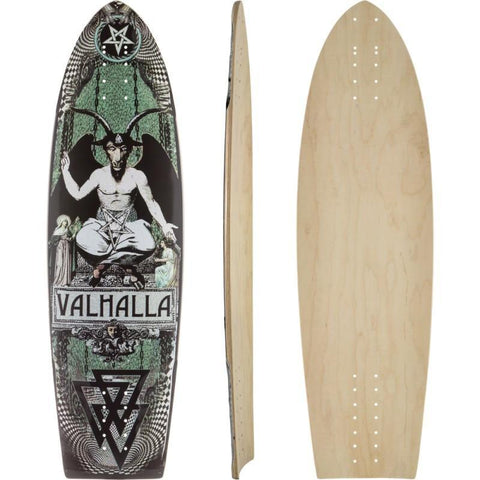 Valhalla Black Dolphin Longboard Deck - The Boardroom