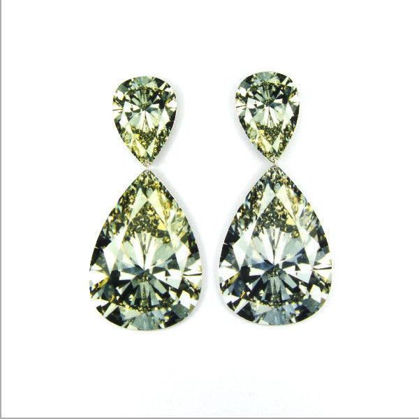 Rocks Earrings - Large Double Pear Diamond by Anna Davern at eclecticartisans.com