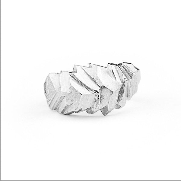 Glacial Facet Ring by Leonie Simpson at eclecticartisans.com