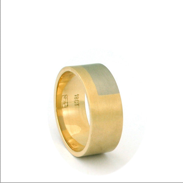 Gold Shades Ring by Melanie Ihnen at eclecticartisans.com