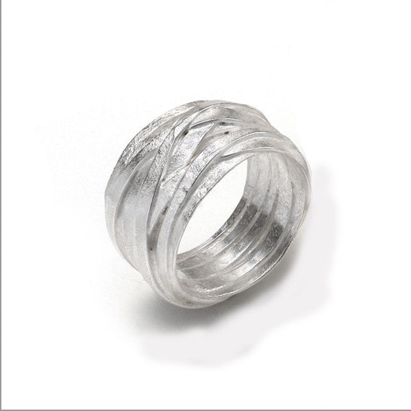1 mm Silver Wrap Ring by Shimara Carlow, at eclecticartisans.com