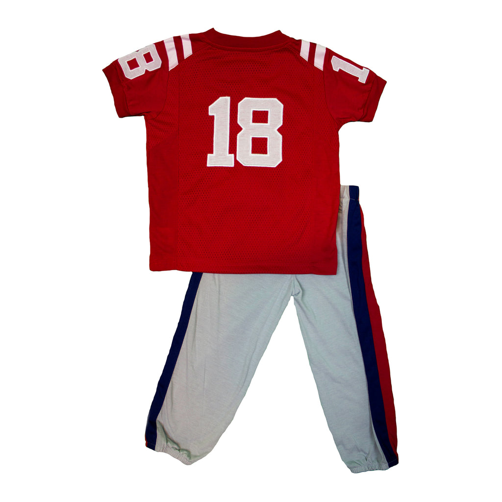 "University of Mississippi ""Two-Piece"" Toddler Football Uniform Pajama Set"