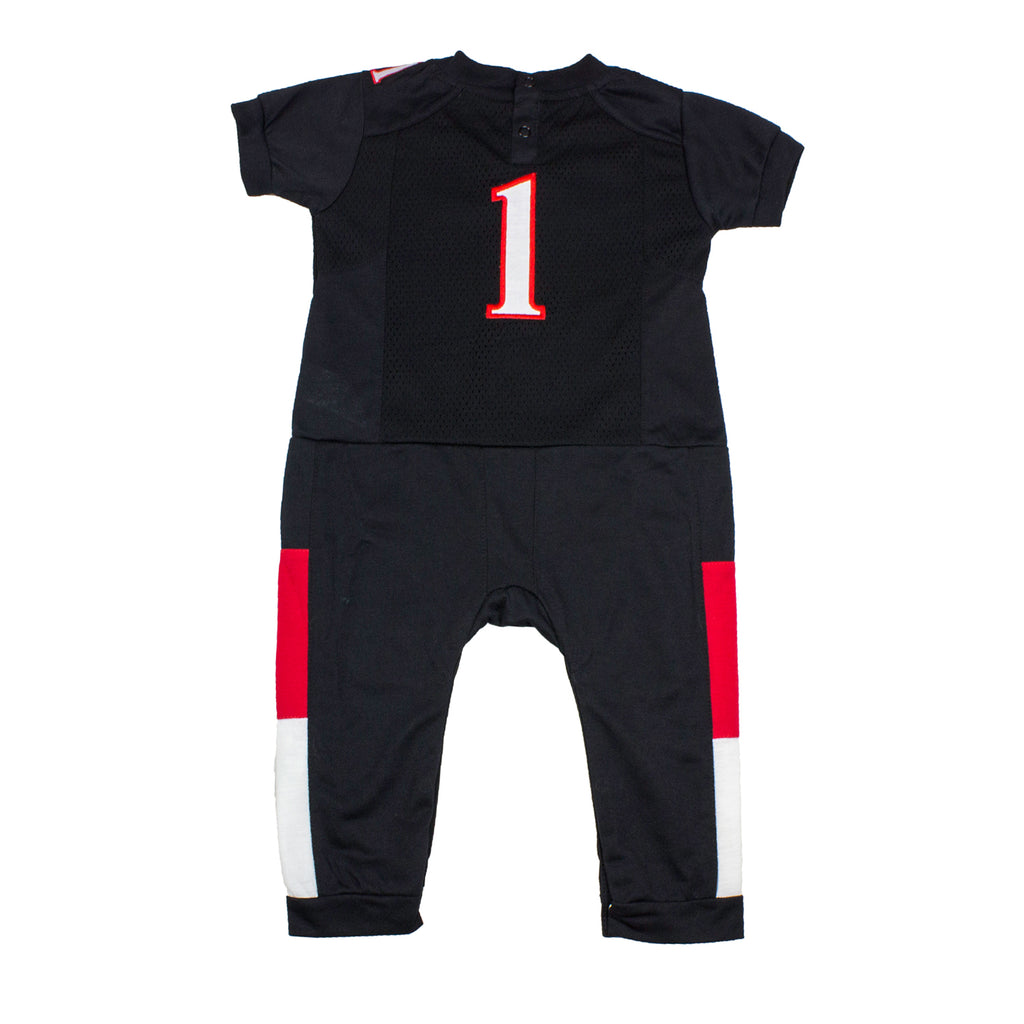 "Texas Tech University ""Onesie"" Baby and Infant Football Uniform Pajama"