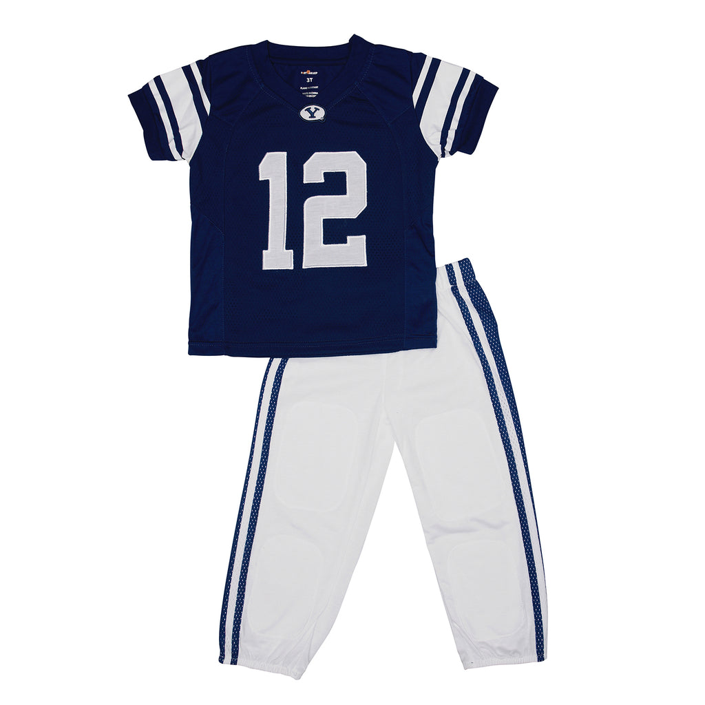 "Brigham Young University BYU ""Two-Piece"" Toddler Football Uniform Pajama Set"