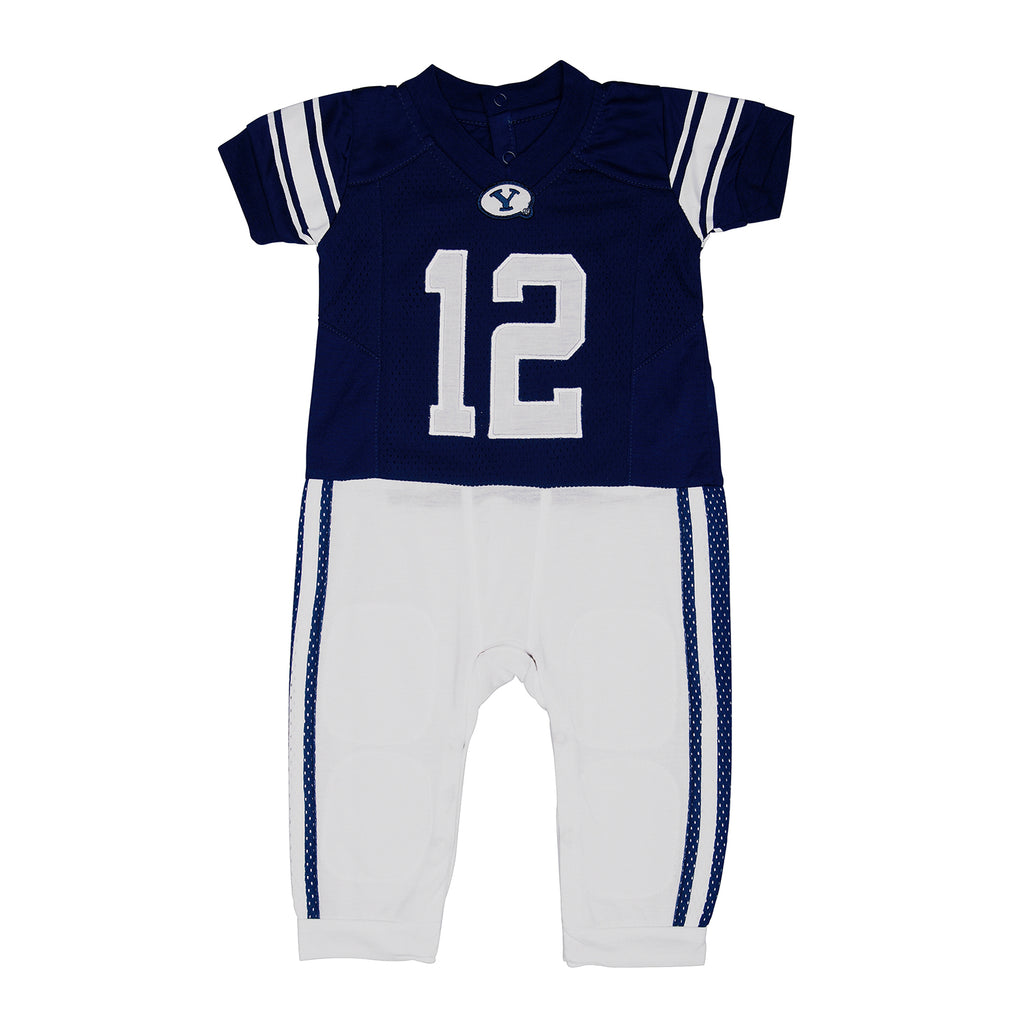 "Brigham Young University BYU ""Onesie"" Baby and Infant Football Uniform Pajama"