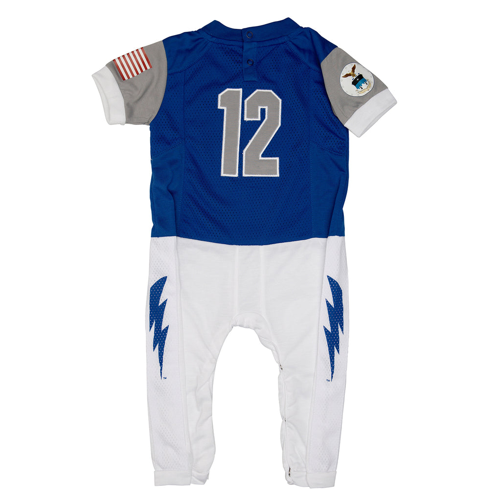 "United States Air Force Academy ""Onesie""Baby and Infant Football Uniform Pajama"
