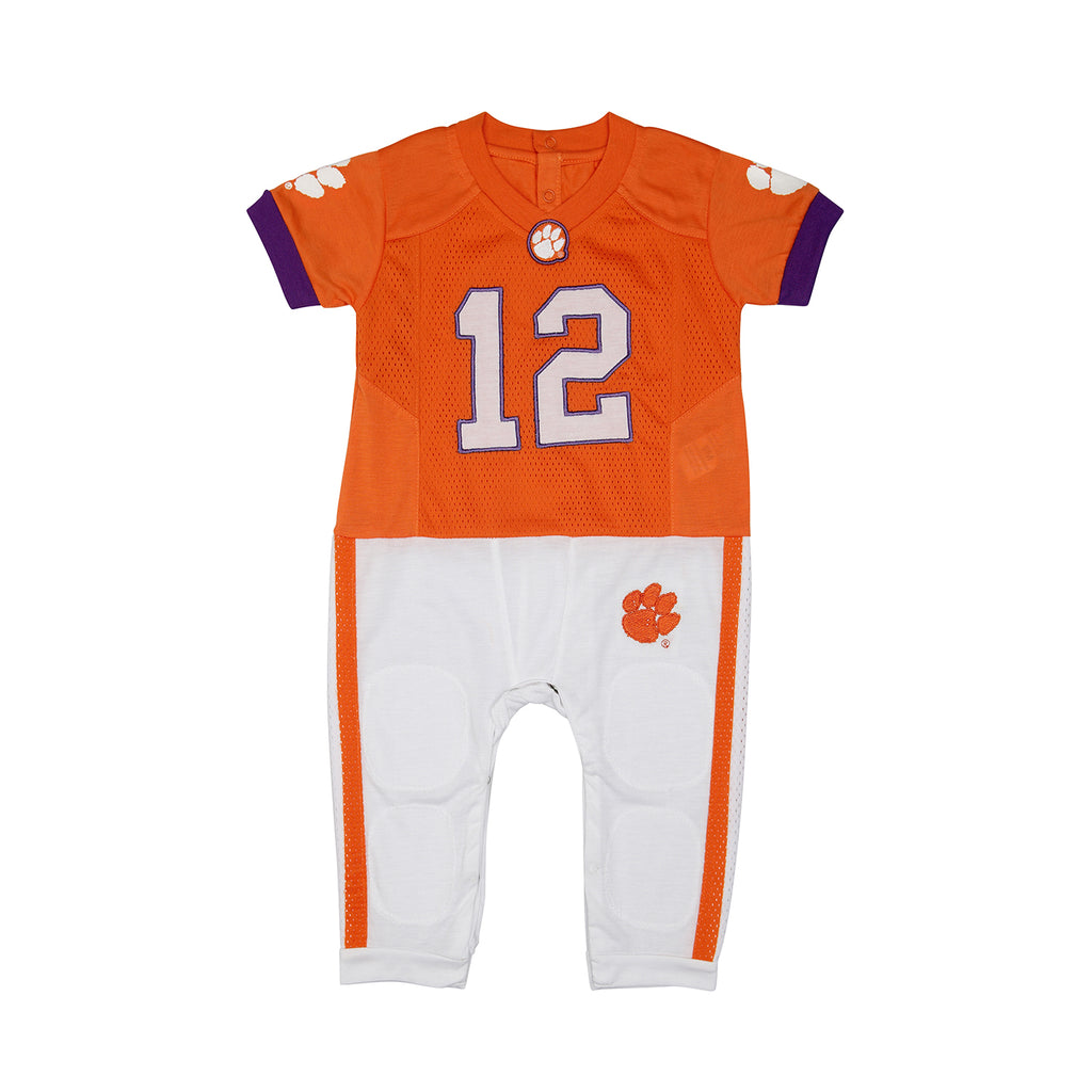 "Clemson University ""Onesie"" Baby and Infant Football Uniform Pajama"