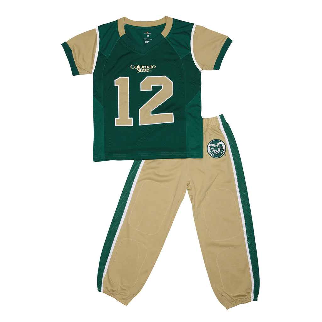"Colorado State University CSU ""Two-Piece"" Toddler Football Uniform Pajama"