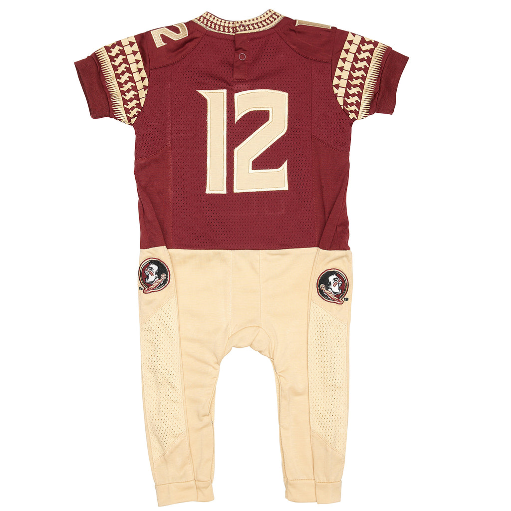 "Florida State University FSU ""Onesie"" Baby and Infant Football Uniform Pajama"