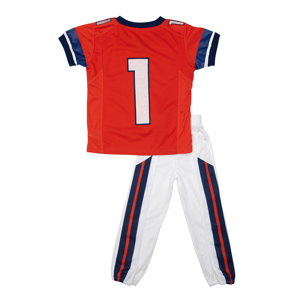 "University of Illinois ""Two-Piece"" Toddler Football Uniform Pajama Set"