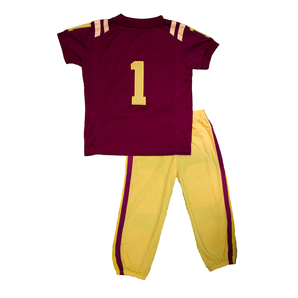 "Iowa State University ""Two-Piece"" Toddler Football Uniform Pajama Set"