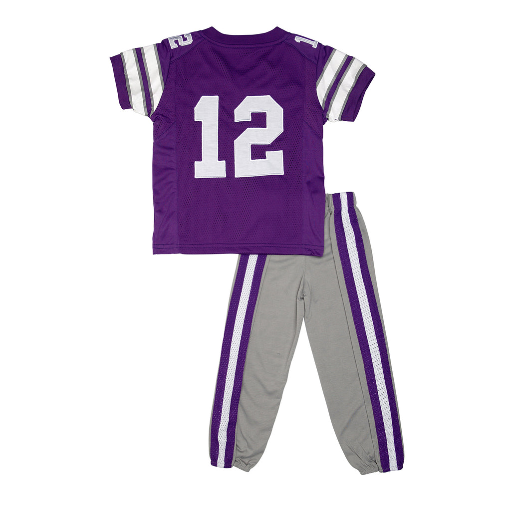 "Kansas State University Wildcats KSU ""Two-Piece"" Toddler Football Uniform Pajama"