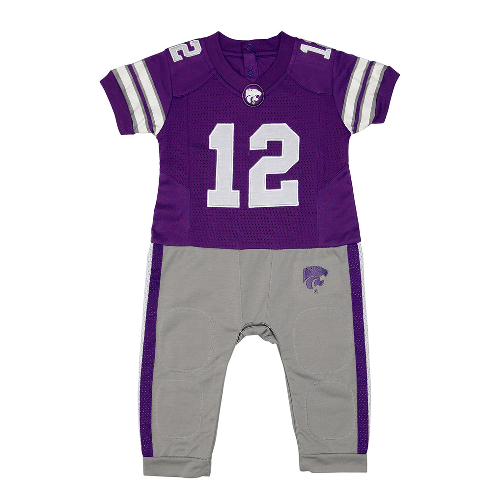 "Kansas State University KSU ""Onesie"" Baby and Infant Football Uniform Pajama"