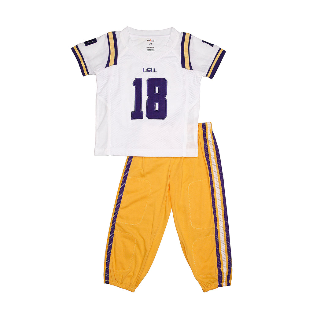 "Louisiana State University LSU Away ""Two-Piece"" Football Uniform Pajama"